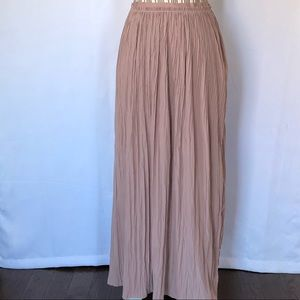 Vivienne Tam dusty rose wrinkled pleated skirt